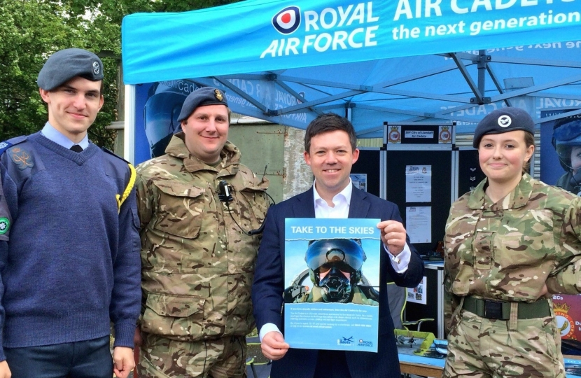 Matt Smith, Conservative Prospective Parliamentary Candidate for Cardiff West with RAF Air Cadets
