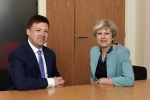 Matt Smith, Conservative Prospective Parliamentary Candidate for Cardiff West with Prime Minister Theresa May